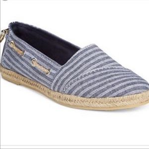 Nautica Rudder Espadrille Nautical Striped Flats